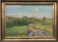 Valdemar Mau (Danish 1892-1952) Wide Summer Landscape - Denmark