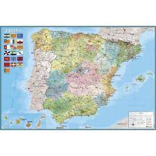 Poster Mapa España - Fisico Politico