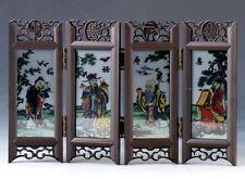 Chinese  Lacquerware Hand-painted  Fukurokuju hi Screen PF029