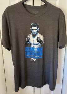 Reebok Khabib Nurmagomedov 'The Eagle' UFC SEND ME LOCATION T-shirt Size Medium