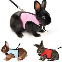 Hamster Rabbit Guinea Pig Rat Ferret Small Cat Breathable Harness Leash Lead M L