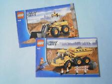 Lego City Instruction Booklets 7630 & 7631. Building Site Shovel & Dumper Truck