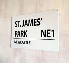 St. James' Park Newcastle Football Street Signe A4 Plaque Métallique Décoration