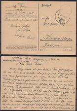 German Reich 1943 Wwii ☀ Feldpost to Kulmbach / Bayern ☀ 1v used postcard