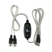 MIDI zu USB Kabel Konverter Anschluss PC zu Synthesizer Musik Tastatur Adap W5P5