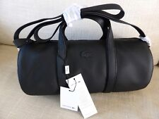 Classic LACOSTE Black Barrel Roll Carry / Shoulder / Crossover Travel Bag TAGS