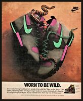 1989 NIKE Son of Lava Dome Hiking Boots Vintage PHOTO AD Collectible Advertising