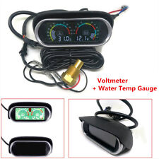 9-36V LCD Digital Car Voltage Gauge Water Temp Temperature Meter+Voltmeter Gauge