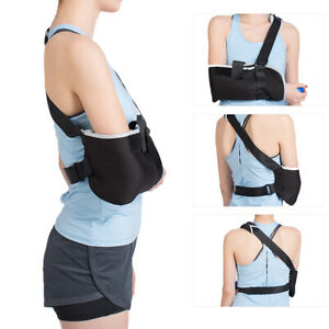 Arm Sling Shoulder Immobilizer Adjustable Arm Support Brace Wrist Sprain Forearm