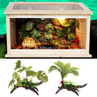 Reptile Decoration Plastic Plant Fish Tank Aquarium Terrarium Ornament