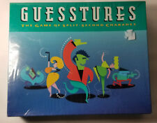Guesstures The Game of Split Second Charades 1990 New! Sealed! Free Shipping!