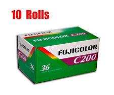 10 Rolls Fuji  Fujifilm Color C200  35mm 135-36 Color Print Film Fresh 2021