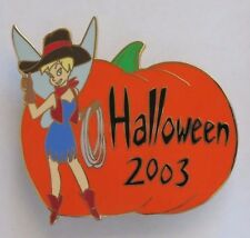 DISNEY AUCTIONS HALLOWEEN 2003 TINKER BELL DRESSED AS COWGIRL PUMPKIN LE 100 PIN