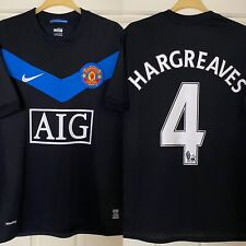 Vintage Official Nike Manchester Utd 2009/10 Adult Football Shirt - 4 Hargreaves