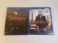 Taken 1 Taken 2 Blu-Ray DVD Movie Lot Liam Neeson New Sealed