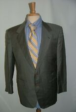 MENS BRIONI ROMA BLAZER SIZE 42 R 100% WOOL MADE IN ITALY GRAY 2 BTTN SOLID  #88