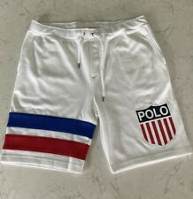 Polo Sport Ralph Lauren Rugby Shield Shorts Multiple Sizes New 1992 Stadium Rare