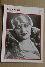 (S22) STARPORTRAITKARTE - Pola Negri
