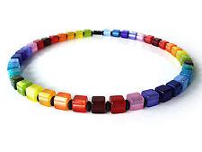 A Sign 🌈Aurora Regenbogen 15 Farben Kette/Halskette Polaris Würfel Magnet Bunt