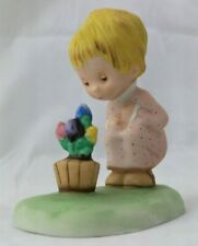 1979 Betsey Clark Collection Love Blossoms Porcelain Figurine Girl With Flowers