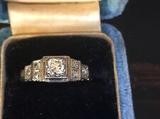 Vintage Diamond Wedding Ring Marked 18K SOLID GOLD