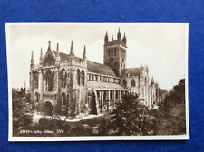Sepia postcard: Yorkshire, Selby Abbey seen from the south west