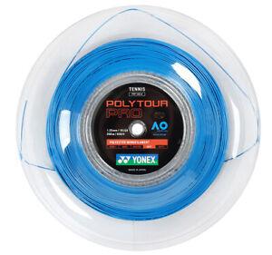 YONEX Poly Tour Pro 1.25mm 200m 16LGA Tennis String Blue Reel PTP 125-2