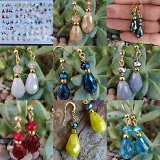 Aretes  de cristal y Chapa 14k mayoreo lote  100 pares  joyeriaArtesanalmexicana