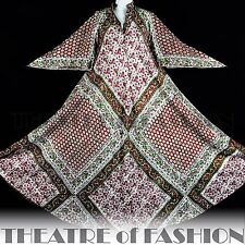 DRESS INDIAN PHOOL KAFTAN VINTAGE 70s M L XL 60s HIPPY BOHO WEDDING GODDESS VAMP