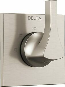 Delta T11874-SS, Brilliance Stainless Zura 3-Setting Diverter Trim Less Rough In