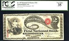 UNIQUE 1875, $2 FR 387 NBN-RAREST OF ENTIRE $2 LAZY DEUCE-FINEST OF 2 KNOWN-CLAS