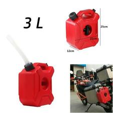 3L Plastic Jerry Cans Gas Container Diesel Fuel Tank For Auto Motorcycle + Lock