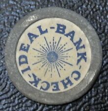 Vintage IDEAL-BANK-CHECK TOKEN - Good For Credit of Ten Cents on First Deposit