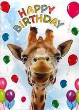 Funny Giraffe Birthday Card Georgie Giraffe 3D Goggly Moving Eyes Animal Humour