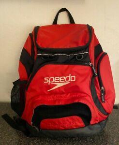 Speedo Large Teamster Backpack 35-Liter, Laptop Case, Red