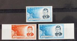 MONACO 1964 SPACE, XF RARE MNH** COLOR PROOFS + Set Moonlanding, Espace, Kennedy