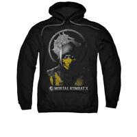 MORTAL KOMBAT X SCORPION BUST Licensed Adult Hooded Sweatshirt Hoodie SM-5XL