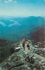 Lake Placid Adirondack Mts New York~Whiteface Mountain Footpath Stone Ledge~1959
