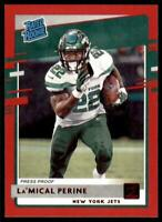 2020 Donruss Rated Rookies Press Proof Red #340 La'Mical Perine - New York Jets
