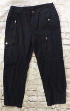 Lauren Ralph Lauren Black Casual 6 Pocket Cargo Capri Pants Women's Size 8
