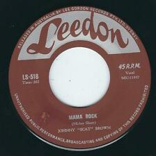 Repro Rockabilly Johnny Scat Brown LEEDON 518 Mama rock / Indeed Johnny Powers ♫