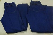 Vintage Rustler By Wrangler Jeans 34x33 Dark Blue Jeans lot of 2 Made in USA