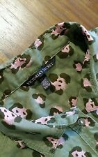 Victoria's Secret green/pink collar shirt szXS preowned excellent free post D13