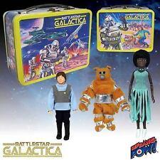 Battlestar Galactica Rétro Tin Tote Lunch Box avec figures de convention exclusive UK