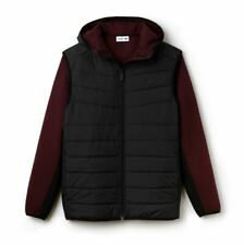LACOSTE MEN'S BLACK HOODED REVERSIBLE JACKET SIZE FR 3 SMALL RRP:- £350
