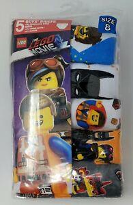 The Lego Movie Boys Underwear Briefs ~ Size 8 ~ 5 Pack ~ New ~ Free S/H