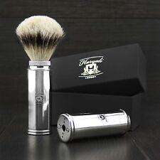 Uomini DA BARBA VIAGGIO Rasatura brush-100% SILVER TIP Badger capelli made in Inghilterra