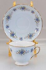 Colclough Blue Forget-Me-Not Bone China Cup & Saucer Set Ridgway Potteries Ltd.
