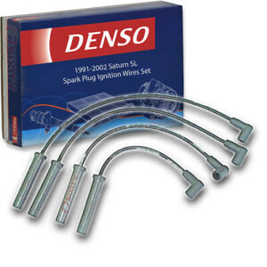 Denso Spark Plug Wire Set for 1991-2002 Saturn SL 1.9L L4 Ignition Plugs bz