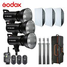 3X Godox SK400 400W Studio Strobe Flash Light FT-16 Trigger 60X90cm Softbox Bag